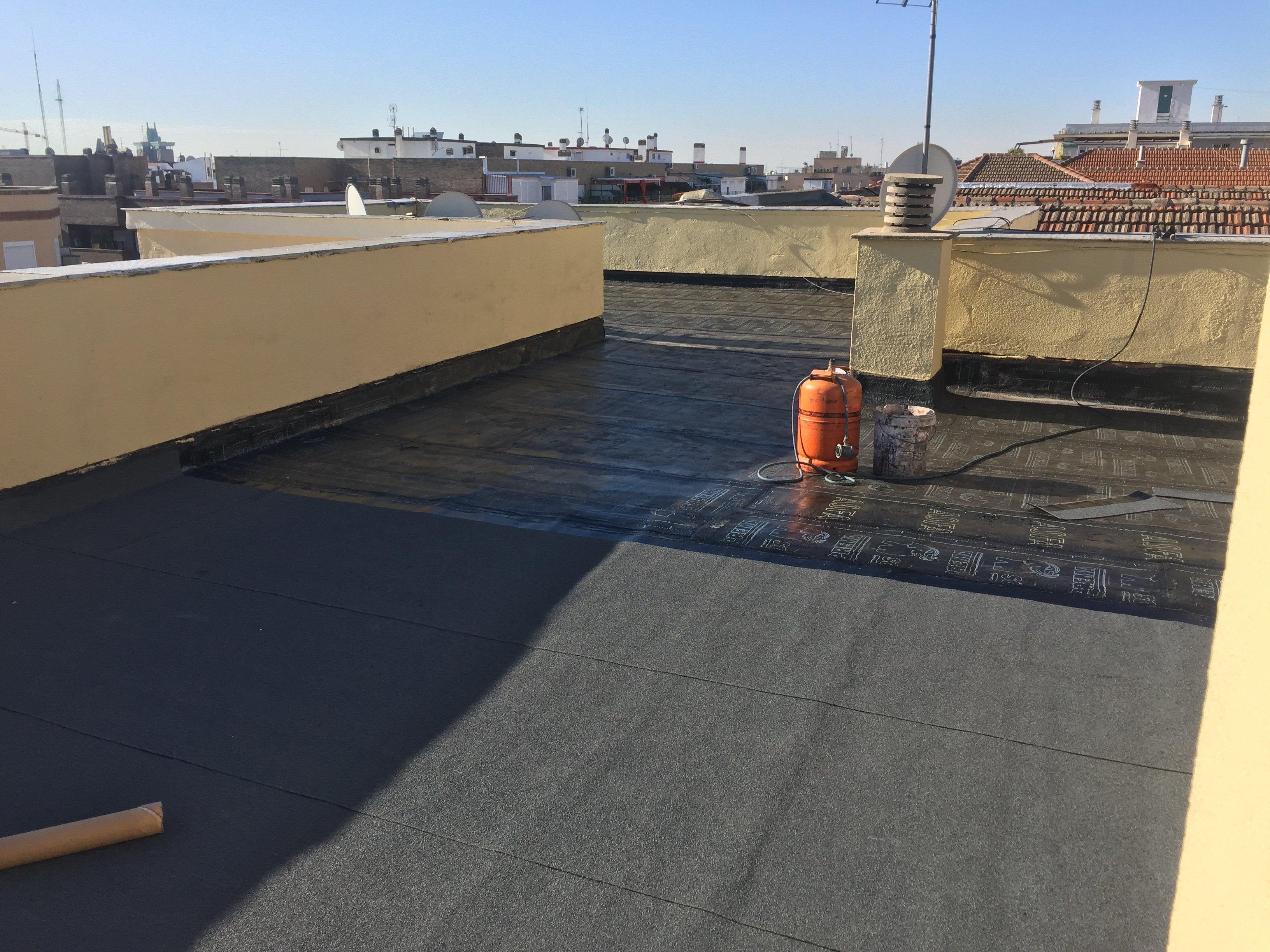 rehabilitar cubierta plana ventilada